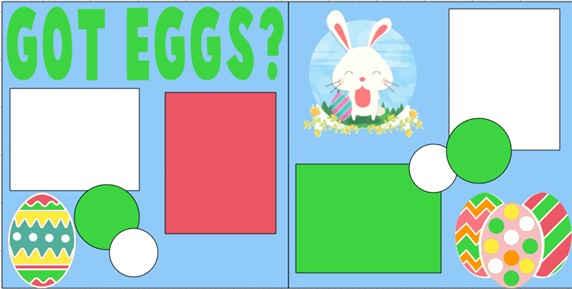 EASTER  Got eggs?  -  page kit