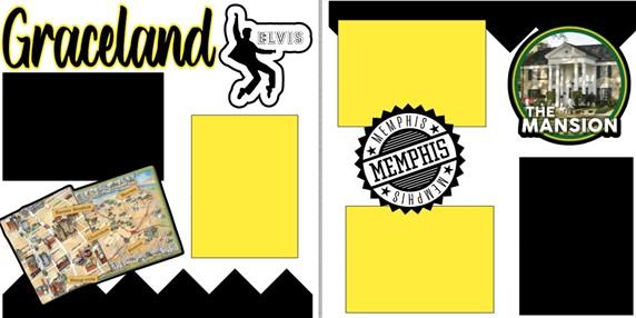 GRACELAND (ELVIS)  -  page kit