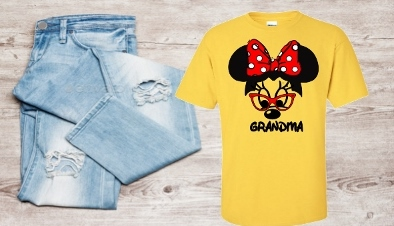 PERSONALIZED MINNIE GRANDMA SHIRT