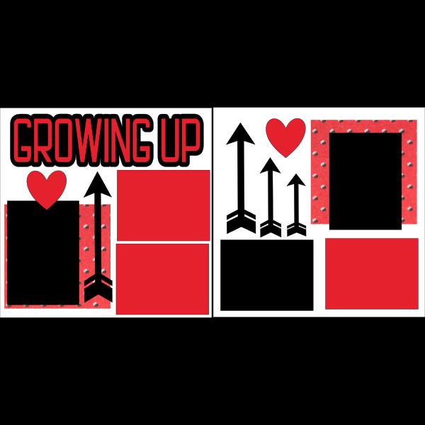GROWING UP *  -basic page kit