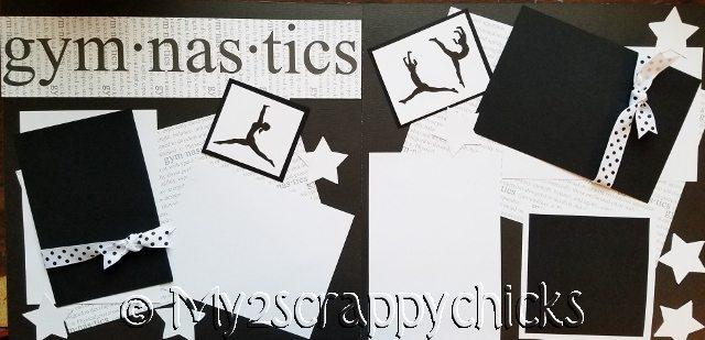 GYMNASTICS BLACK AND WHITE  page kit