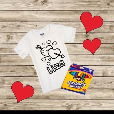 VALENTINES DAY COLORING SHIRT
