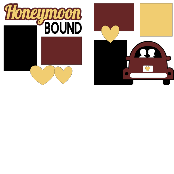 HONEYMOON BOUND --  page kit