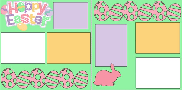 HOPPY EASTER --  page kit