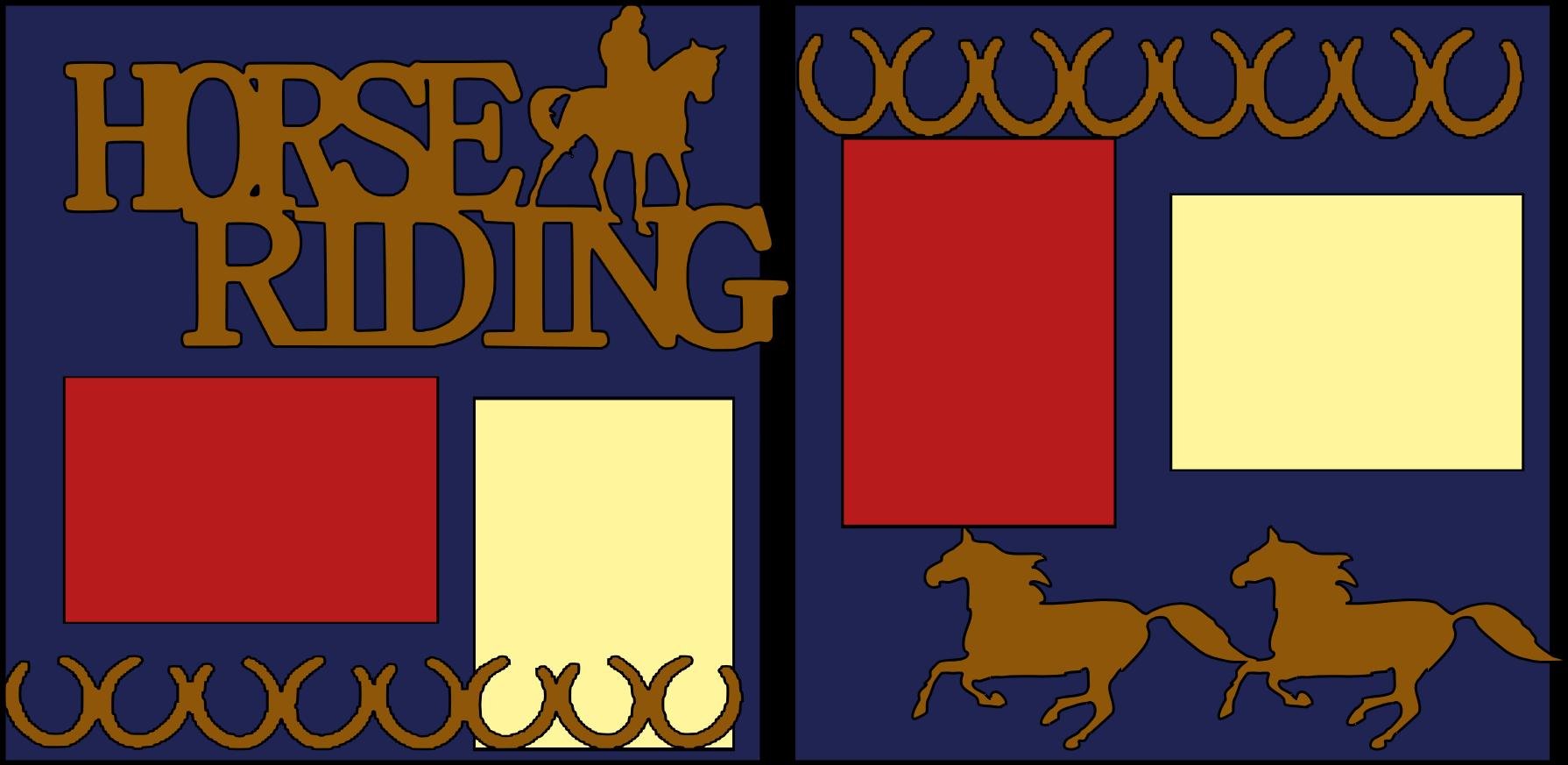 Horseback Riding --  page kit