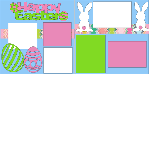 HAPPY EASTER (COTTON TAIL)  ... Page Kit
