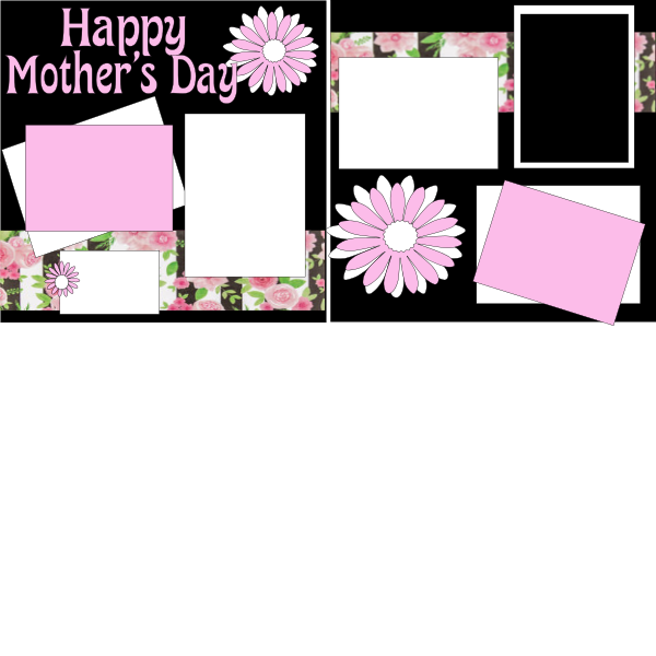 MOTHER'S DAY (PINK FLOWER)  -basic page kit