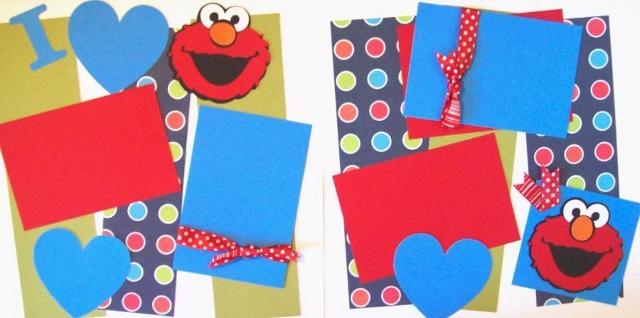 I love Elmo - Sesame Street  Page Kit