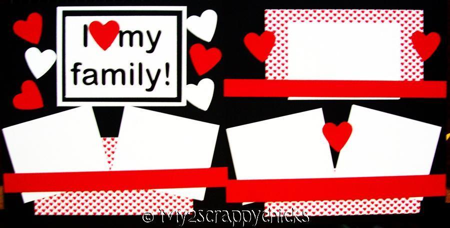 I love my Family ++  page kit