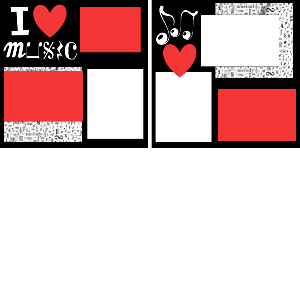 I love music --  page kit