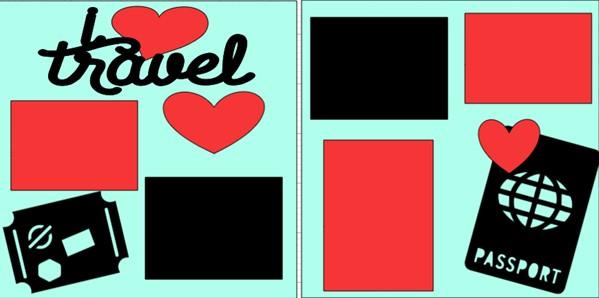 I love travel--- page kit