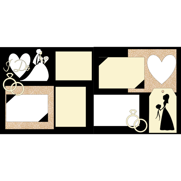 I DO WEDDING  -basic page kit