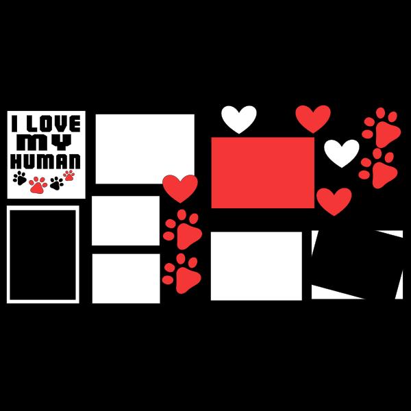 I LOVE MY HUMAN (PETS) page kit