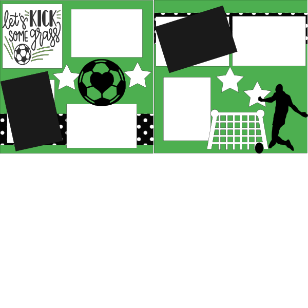 SOCCER-LET'S KICK SOME GRASS BOY   -basic page kit