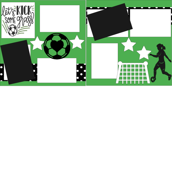 SOCCER-LET'S KICK SOME GRASS GIRL   -basic page kit