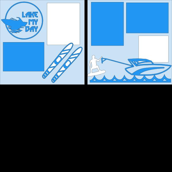 Lake my Day (lake fun)  --  page kit