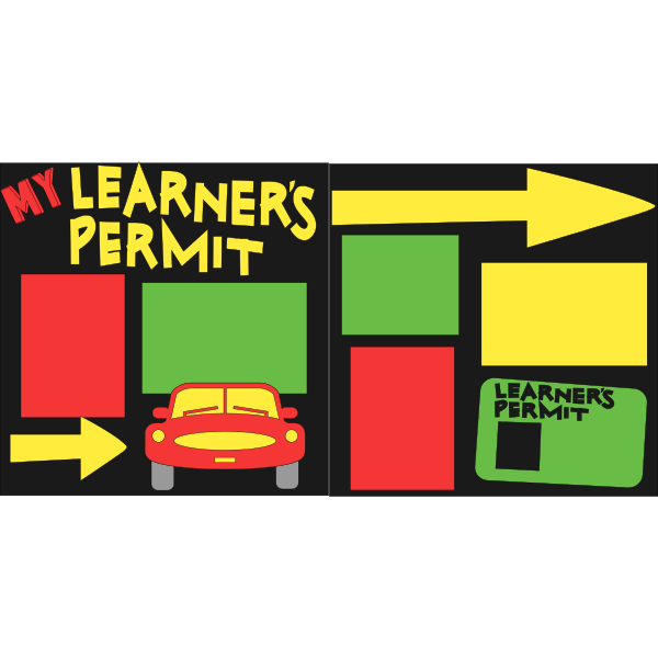 LEARNERS PERMIT DRIVING  -basic page kit