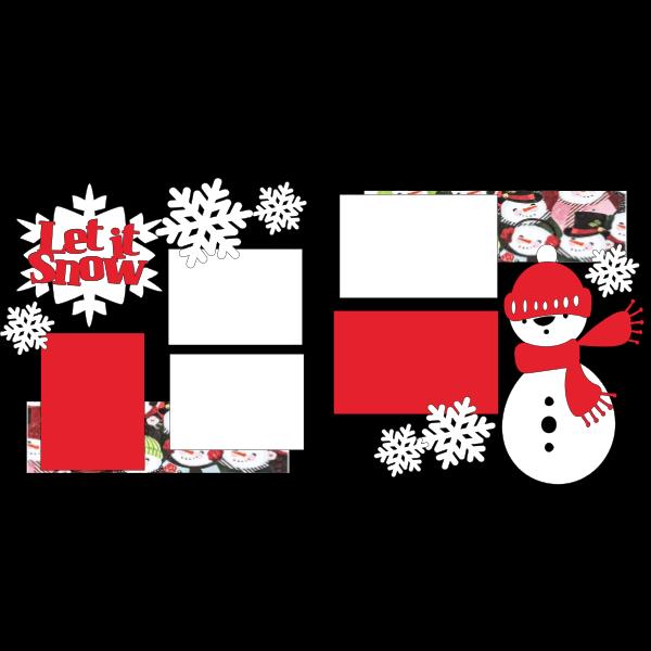 let it snow snowman  -basic page kit
