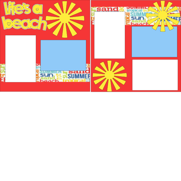 LIFES A BEACH  page kit