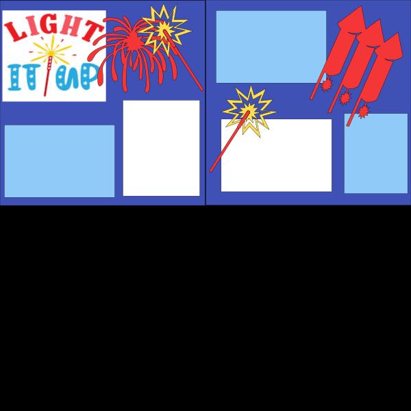 LIGHT IT UP 4TH OF JULY FIREWORKS   -basic page kit