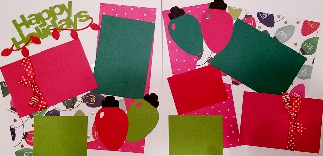 HAPPY HOLIDAYS - CHRISTMAS LIGHTS  page kit