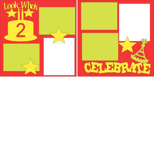 Look who's 2 --  page kit