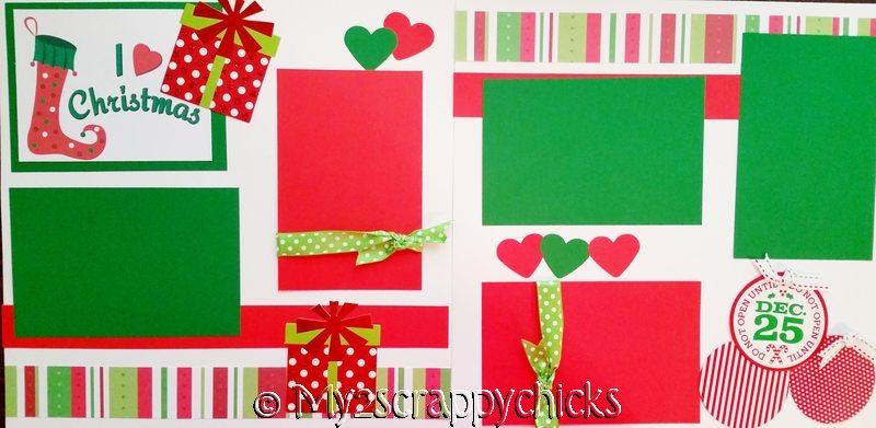 I LOVE CHRISTMAS (STOCKINGS)   page kit