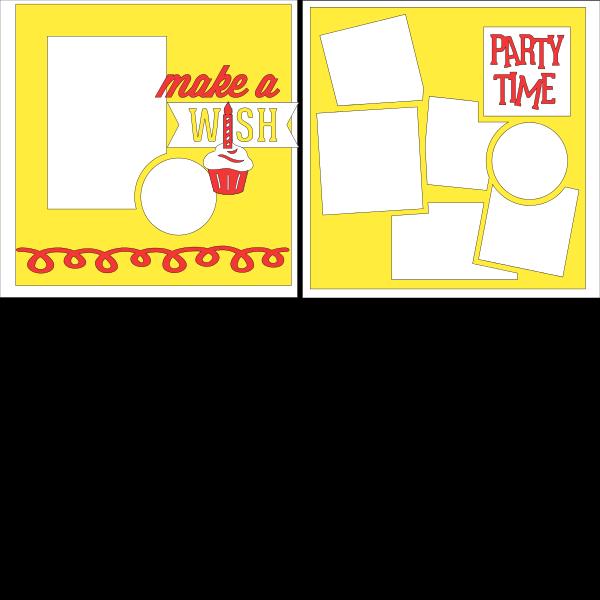 Make a wish Happy Birthday --  page kit