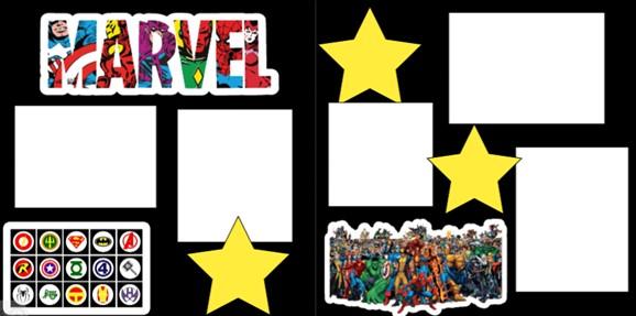 MARVEL SUPER HEROES  -  page kit