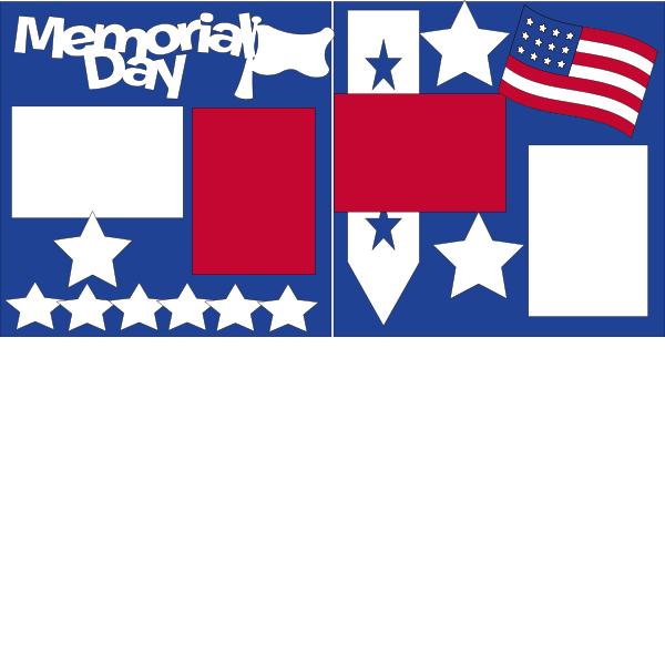MEMORIAL DAY **  -basic page kit