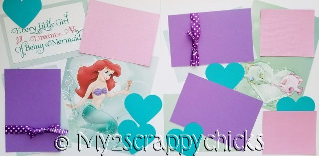 EVERY LITTLE GIRL DREAMS OF BEING A MERMAID DISNEY page kit