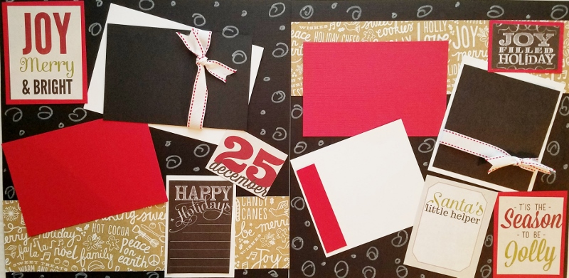 CHRISTMAS JOY MERRY AND BRIGHT  *  Page kit