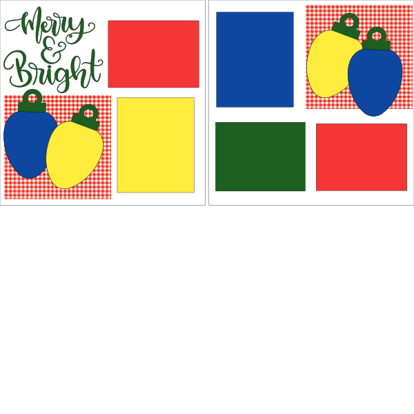 Merry and Bright   page kit