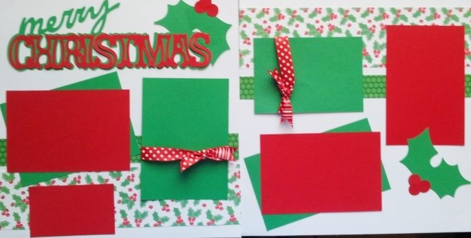 MERRY CHRISTMAS (HOLLY)   page kit