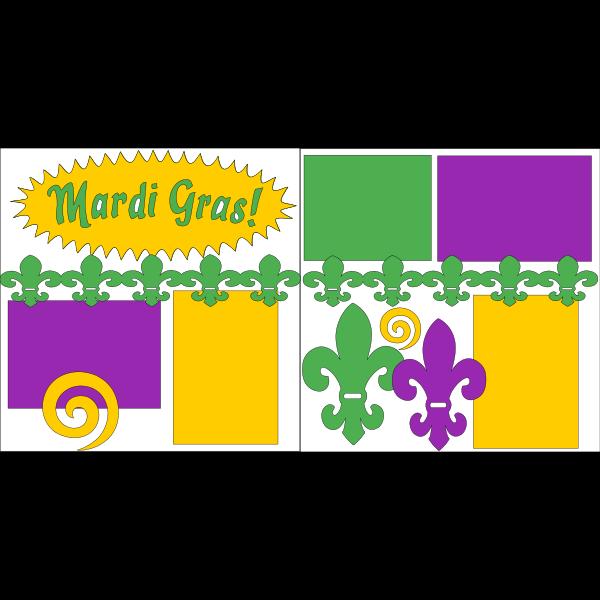 MARDI GRAS 1 **  -basic page kit