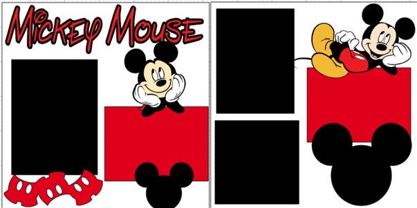 MICKEY MOUSE  -  page kit