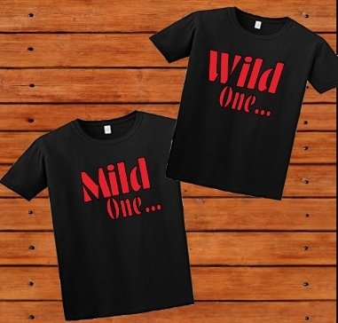 T-SHIRT MILD ONE-WILD ONE SET COUPLES/FRIENDS OR SIBLINGS SET