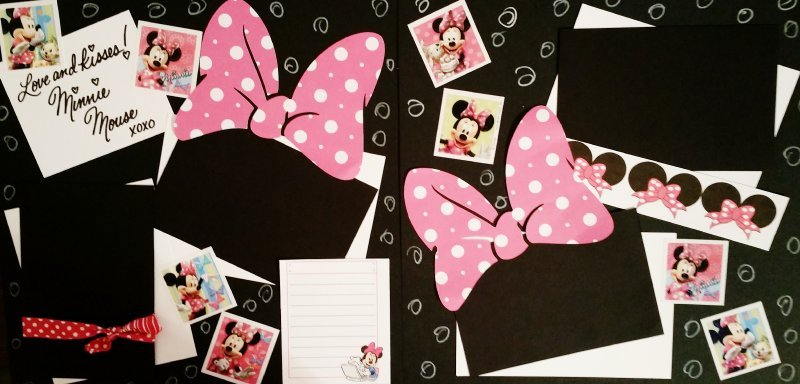 HUGS AND KISSES MINNIE DISNEY   page kit
