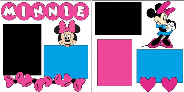 MINNIE MOUSE  -  page kit