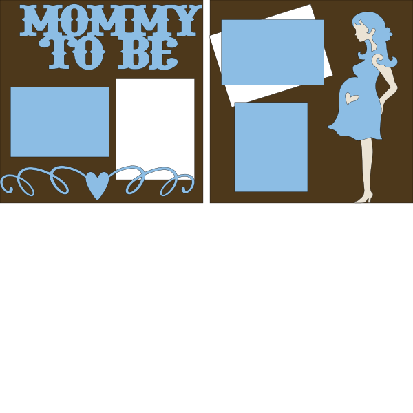 Mommy to be its a boy --  page kit