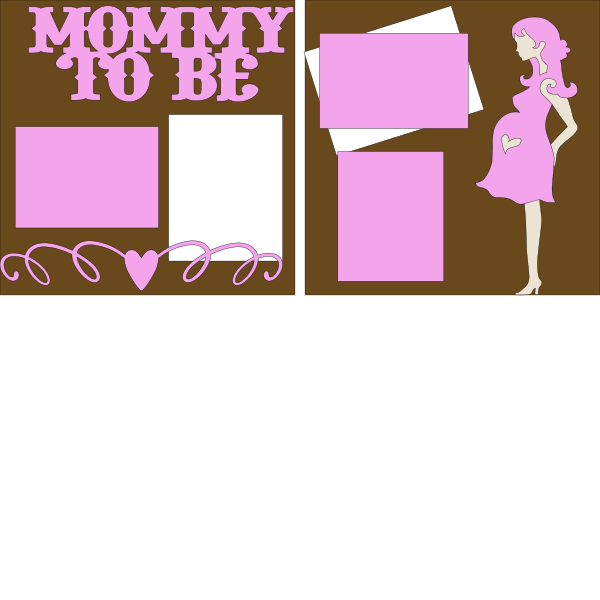Mommy to be It's a girl --  page kit