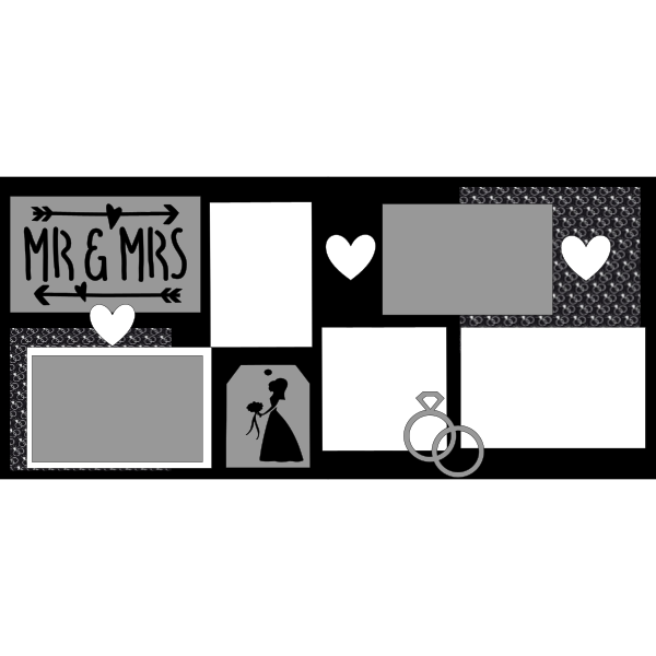 WEDDING MR AND MRS  -basic page kit