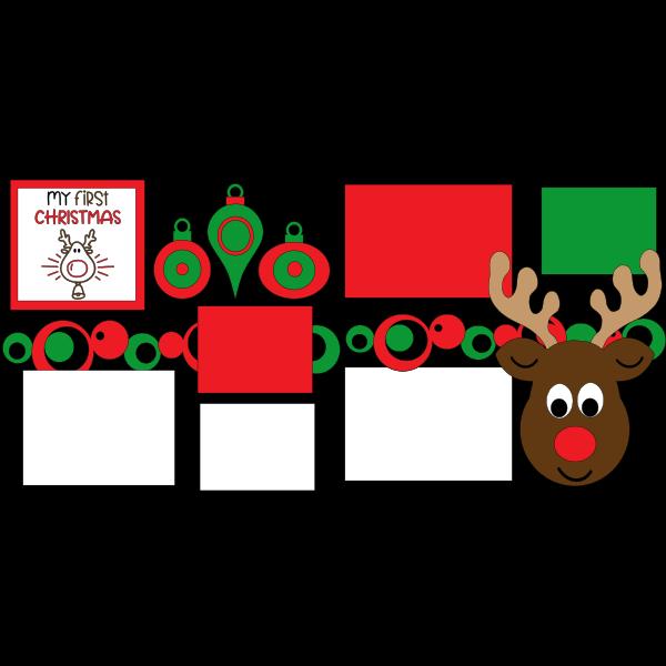 MY 1ST CHRISTMAS  -basic page kit