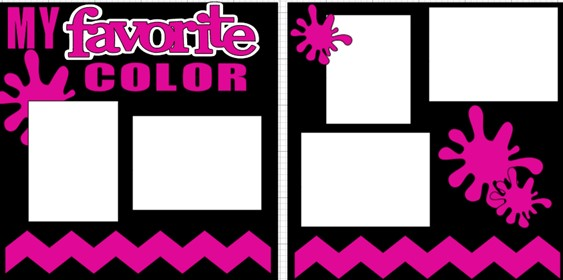 MY FAVORITE COLOR (CHOOSE YOUR OWN FAVORITE COLOR )  -  page kit