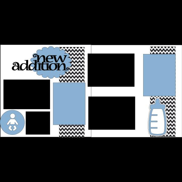 NEW ADDITION BABY BOY  -basic page kit
