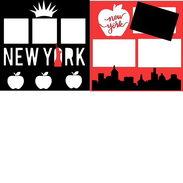 NEW YORK THE BIG APPLE  -basic page kit