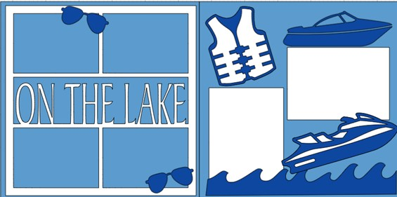 On the lake boats and jet skis  -  page kit