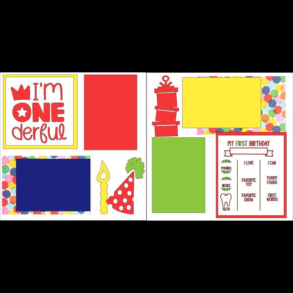 1ST BIRTHDAY ONE-DERFUL -basic page kit