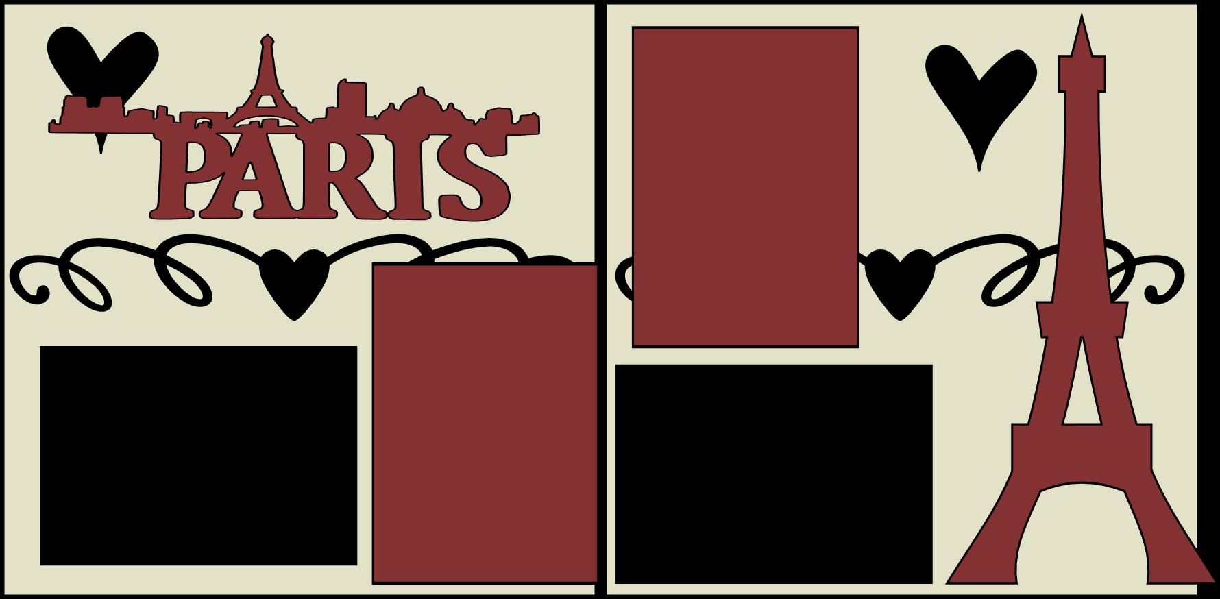 PARIS SKYLINE TITLE --  page kit