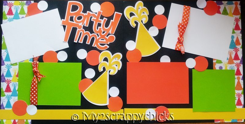 PARTY TIME BDAY HATS page kit